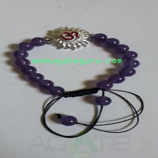 Amethyst-Crystal-Beads-Sun-Charm-Bracelet