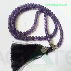 Amethyst-Natural-Beads-Jaap-Mala-with-Hamsha
