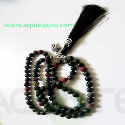 Blood-Stone-Natural-Beads-Jaap-Mala-With-Buddha