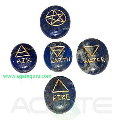 Crystal-Lapis-Lazuli-5-Element-Tumble-Stones-Set