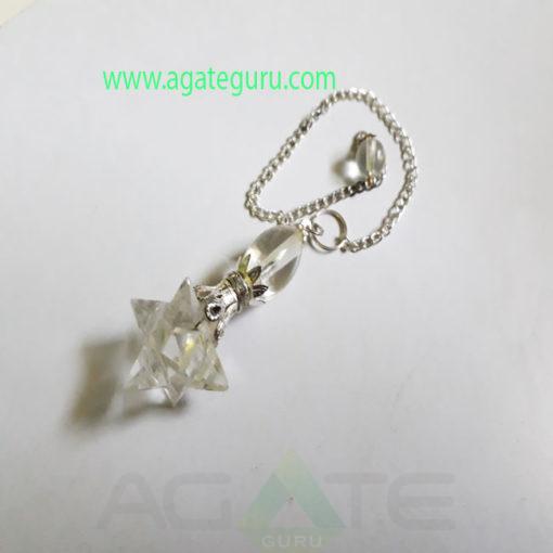 Crystal-Quartz-Markaba-Star-Pendulum