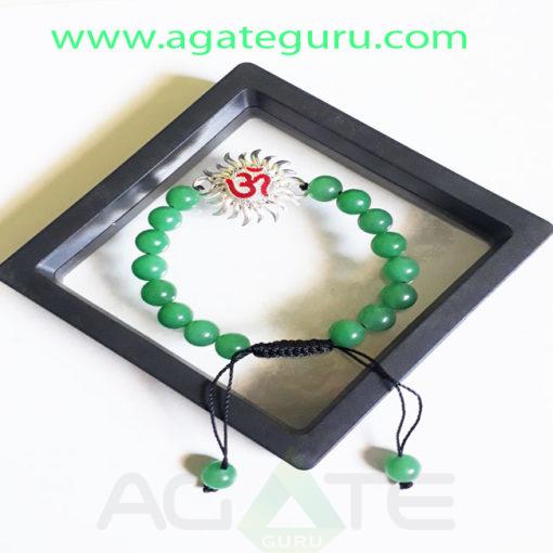Green-Aventurian-Beads-Bracelet-With-Sun-Charm