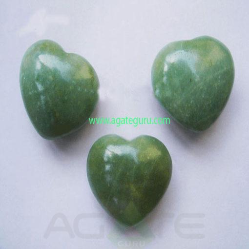 Green-Aventurine-Puff-Heart