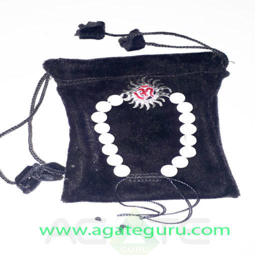Howlite-Natural-Beads-Sun-charm-Bracelet