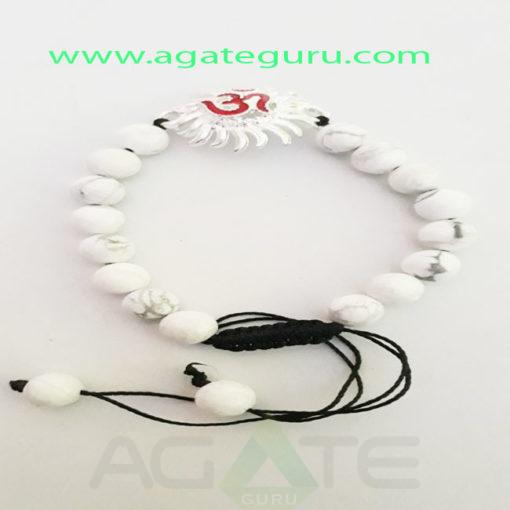 Howlite-Natural-Beads-charm-Bracelet