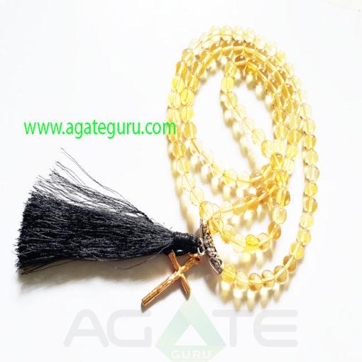 Jaap-Mala-Citrine-Gemstone-Beads-With-Cross