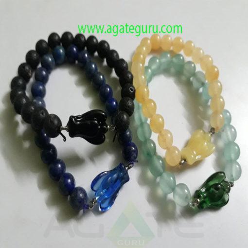 Mix-gemstone-Beads-Angel-Bracelet