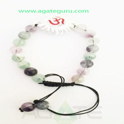 Multy-Floarite-Natural-Beads-Ohm-sun-Charm-Bracelet
