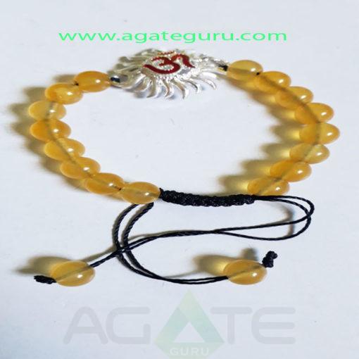 Ohm-sun-Charm-handmade-yoga-Bracelet
