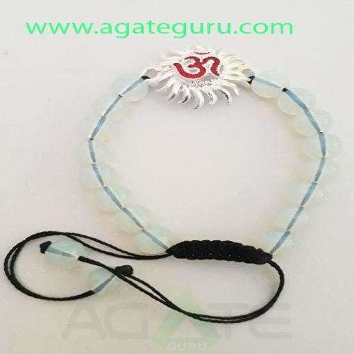 Opalite-Beads-sun-Om-Charm-Healing-Bracelet