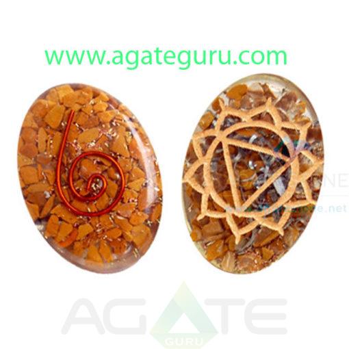 Orgone-Engraved-Solar-Plexus-Chakra-Oval-Cabochon