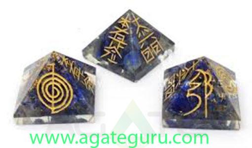 Orgone Engraved Solar Plexus Chakra Pyrami