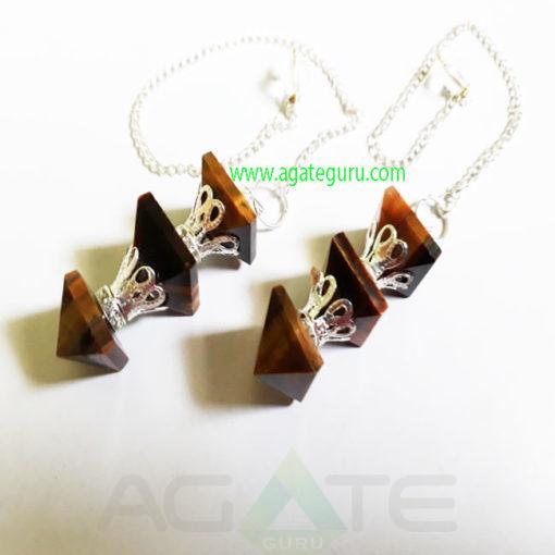 Pyramid-Tiger-Eye-Pendulum