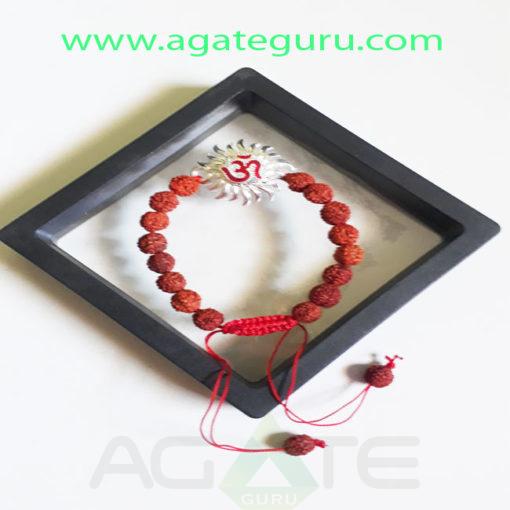 Rudraksh-Beads-Handmade-Om-Bracelet
