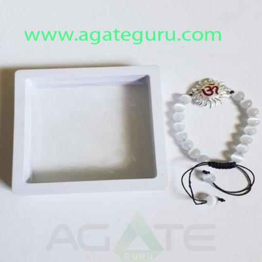 Selenite-Natural-Beads-Bracelet-With-Gift-Box