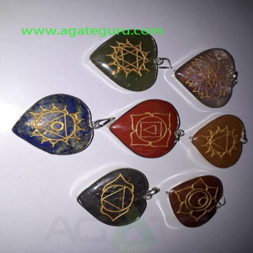 Seven-Chakra-HEart-engraved-reiki-Pendent
