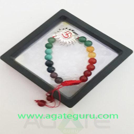 Seven-Chakral-Beads-Sun-Om-Charm-Bracelet-With-Gift-Box