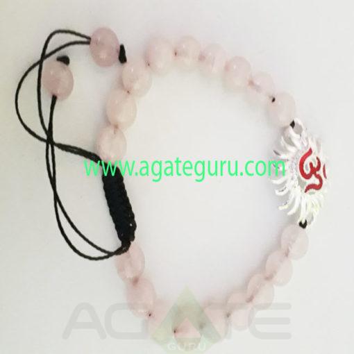 Sun-Ohm-Charm-Rose-Quartz-Beads-Bracelet