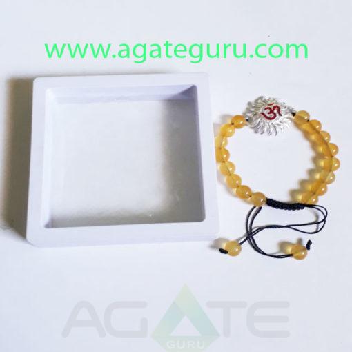 Yellow-Aventurian-Beads-Bracelet-With-Sun-Charm