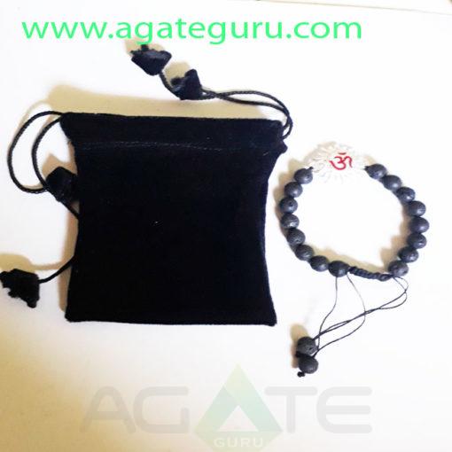 lava-Beads-HAndmade-Charm-Om-Bracelet