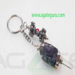 Amethyst-Ganesha-Keychain-With-Vajra