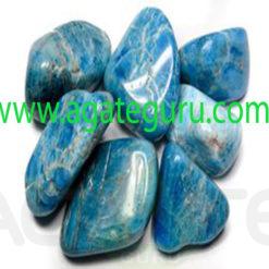 Apatite-Blue-tumbled-stones