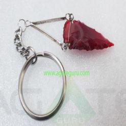ArrowHead-Red-Glass-Kaychain
