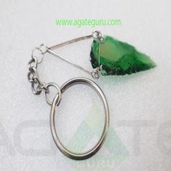 Arrowhead-Green-Glass-Arrowhead-Keychain