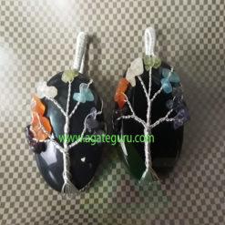 Black-Gemstone-Chakra-Healing-Pendent