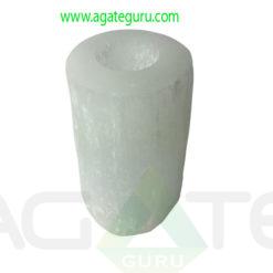Selenite-Round-Candle-Holder